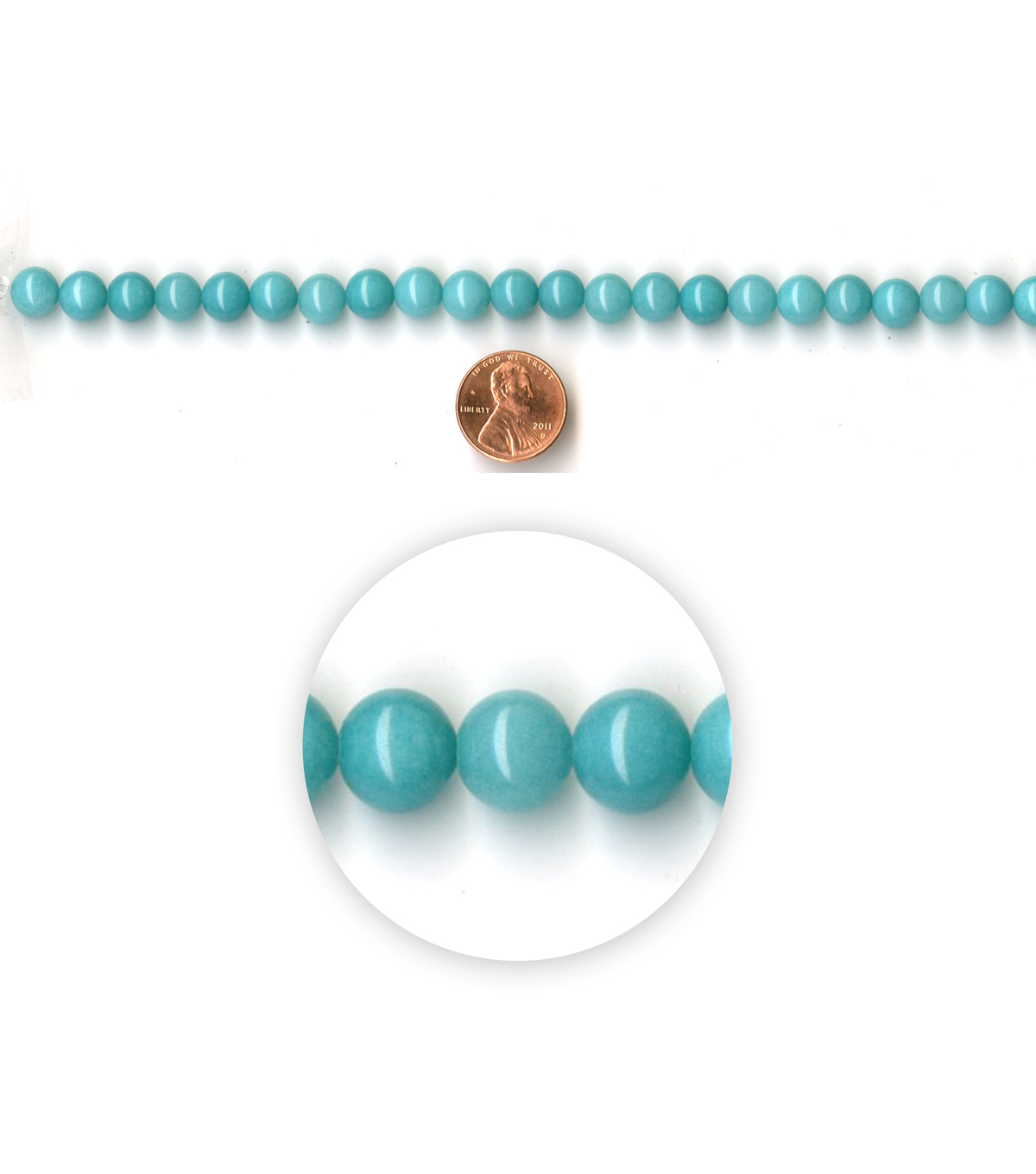 Blue Moon Strung Amazonite Stone Beads,Round,Turq