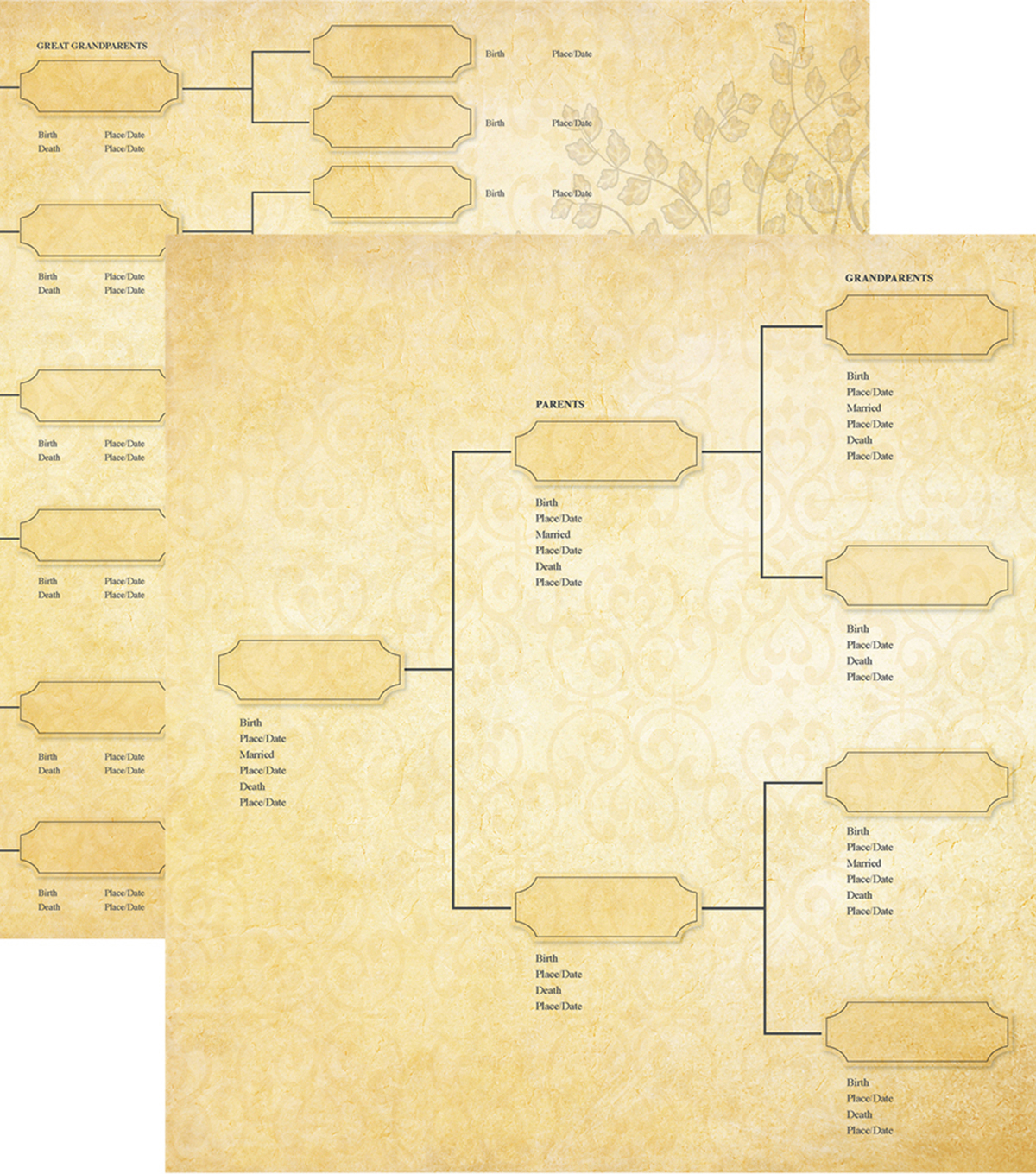 "Family Tree Double-Sided Cardstock 12""X12""-Generations"