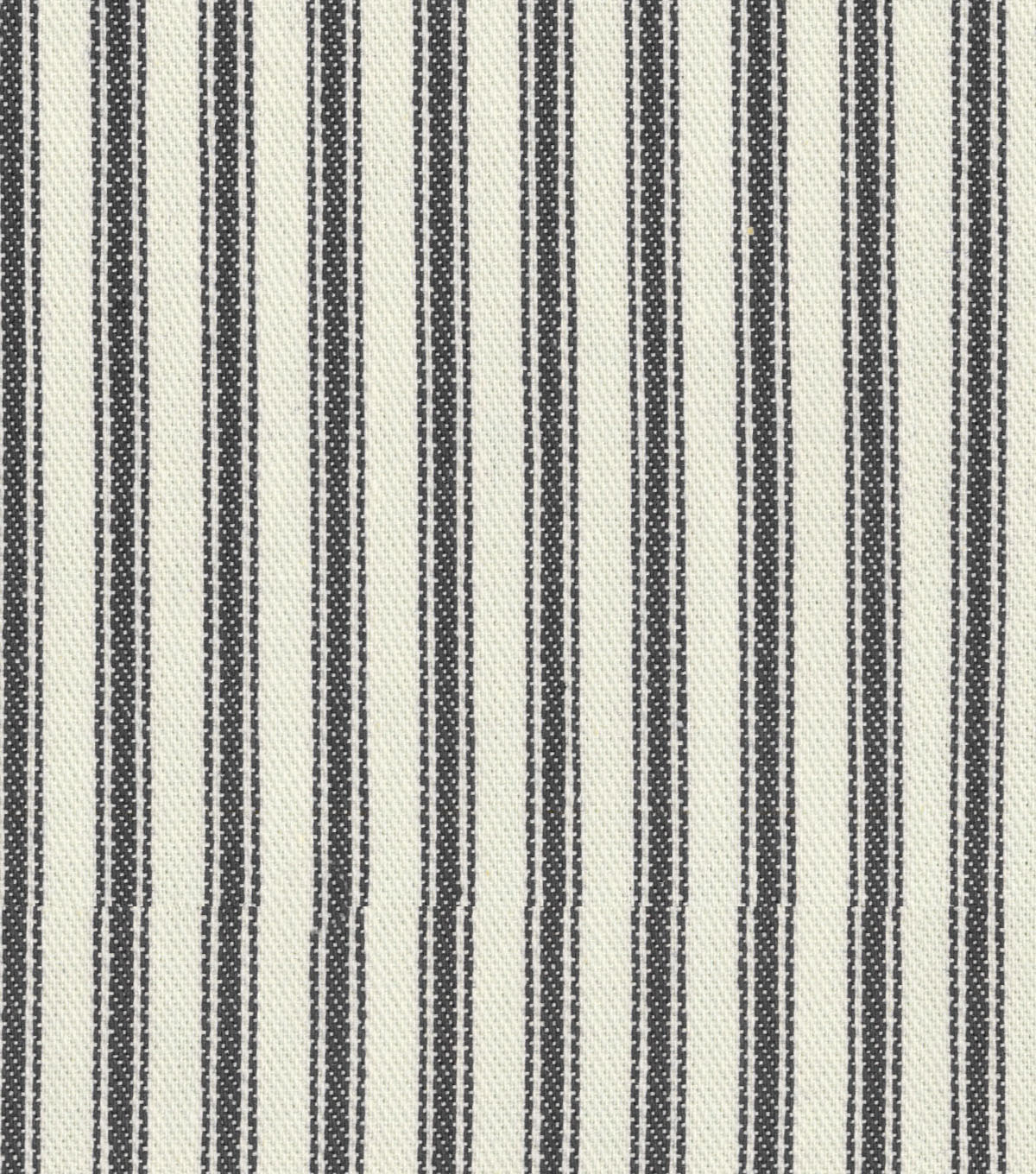 Waverly Upholstery Fabric 55\u0022-Classic Ticking Black