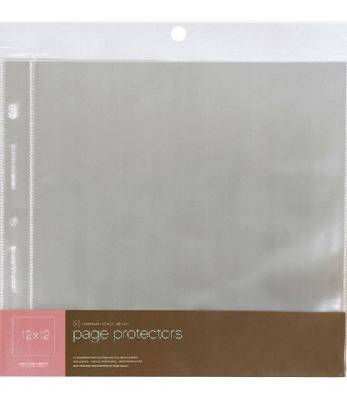 Page Protectors 12\u0022X12\u0022 Top Loading-For Postbound & D-Ring