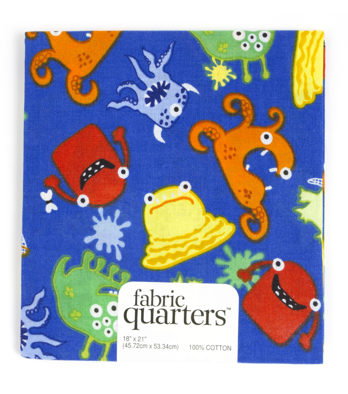 Fabric Quarters Cotton Fabric 18\u0022-Assorted Monsters