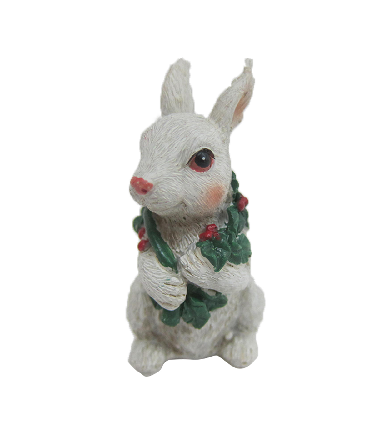 Maker\u0027s Holiday Christmas Littles Resin Bunny with Scarf