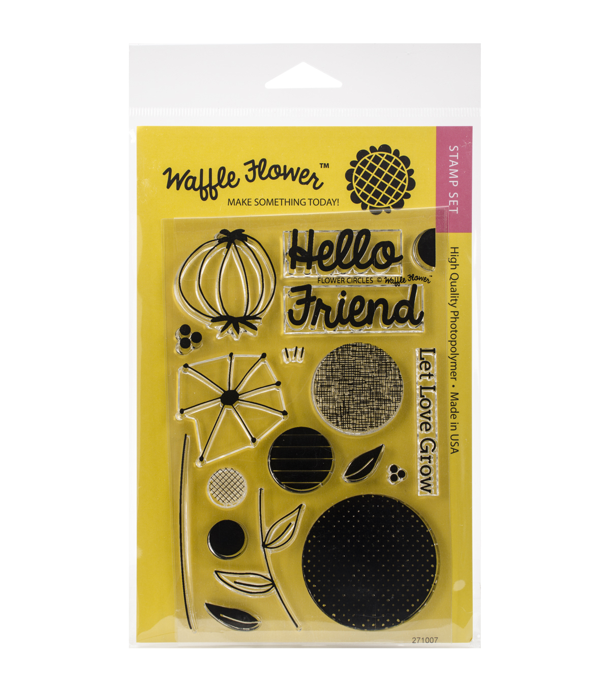 Waffle Flower Crafts Clear Stamps-Flower Circles