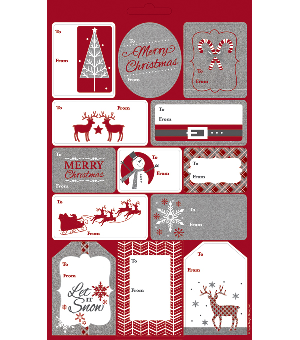 Maker\u0027s Holiday 52ct Plaid Icons Gift Tag Book