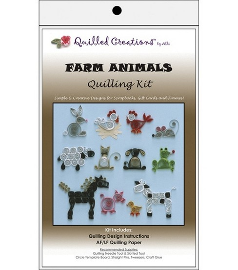 Quilled Creations Quilling Kits-Farm Animals