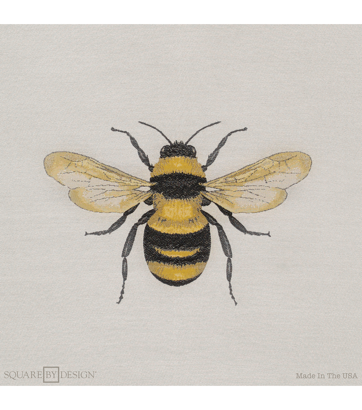 bumble bee woven square 25
