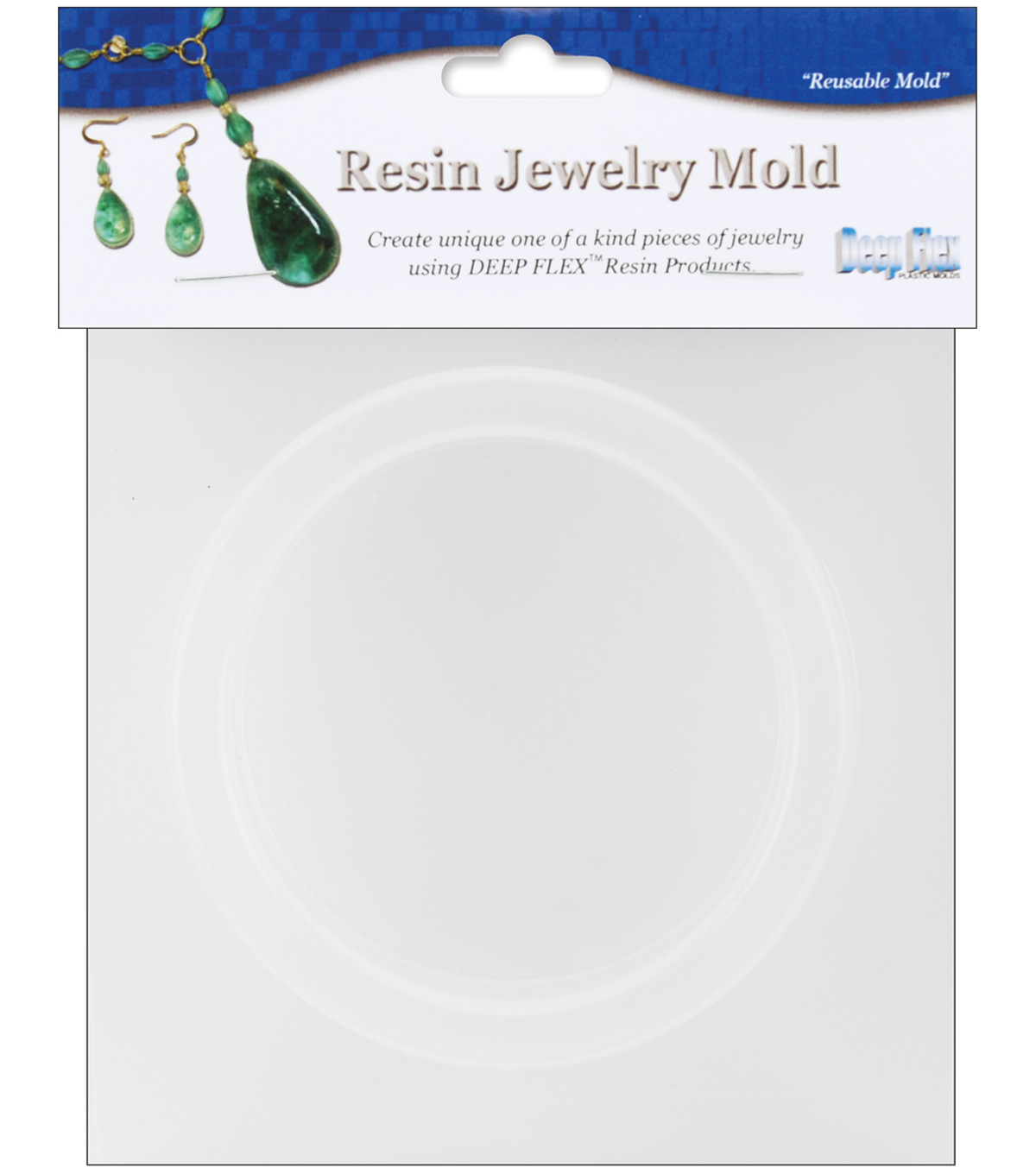 "Yaley Resin Jewelry Reusable Plastic Mold-Bangle .75""X.375""X2.625"""