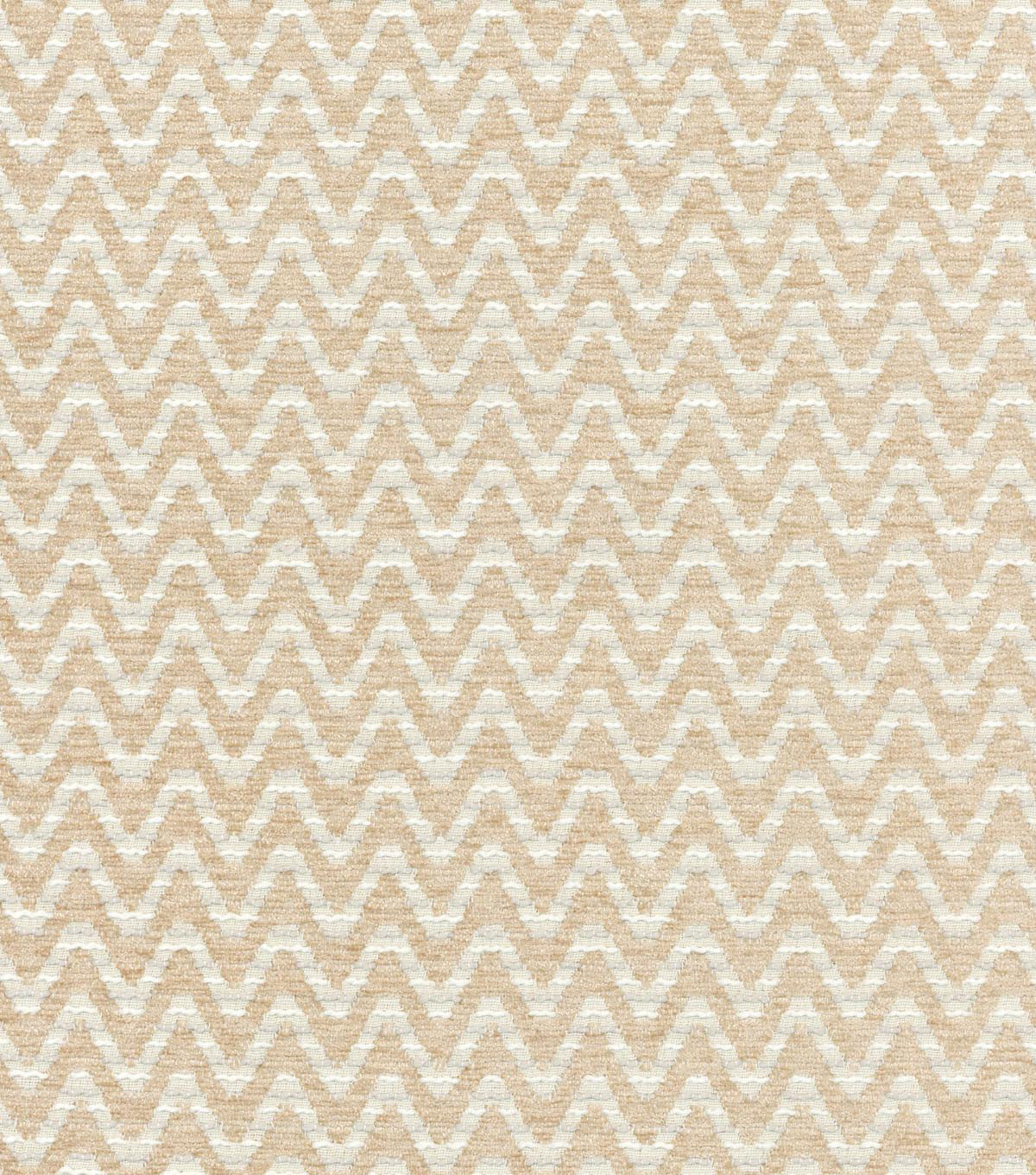 "Home Decor 8""x8"" Swatch Fabric-Waverly Wave of Affection Sandstone"