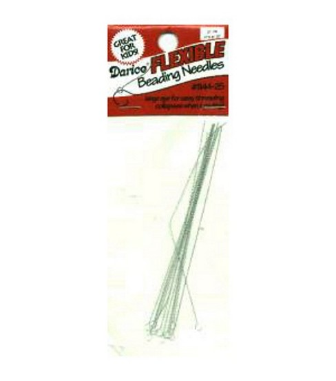 Darice 3 1/2\u0022 Flexible Beading Needles-12PK/Silver