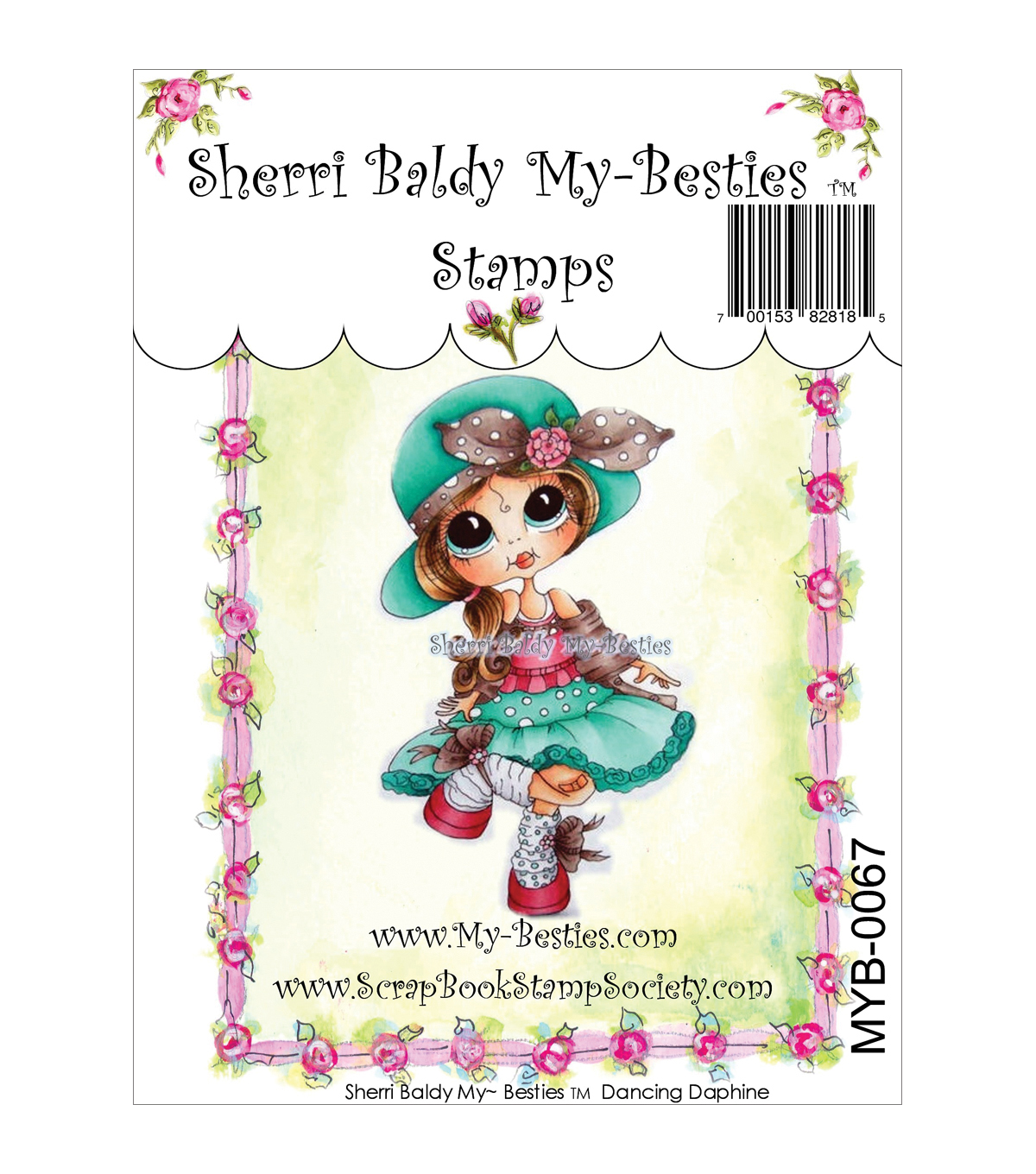 "My Besties Clear Stamps 4""X6""-Dancing Daphine"