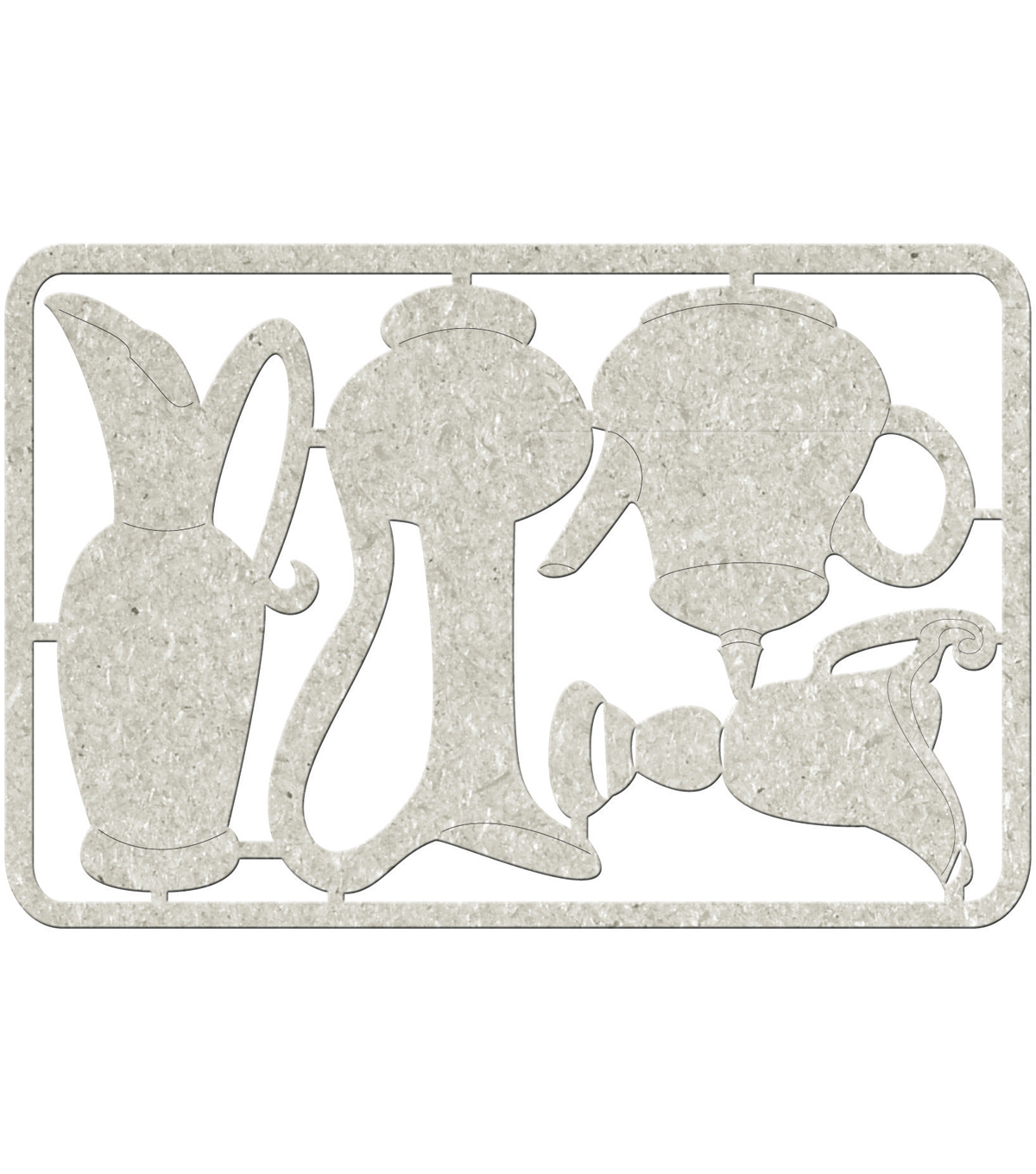 Die-Cut Gray Chipboard embellishments-3 Jugs & Teapot, 3.5\u0022X5.5\u0022