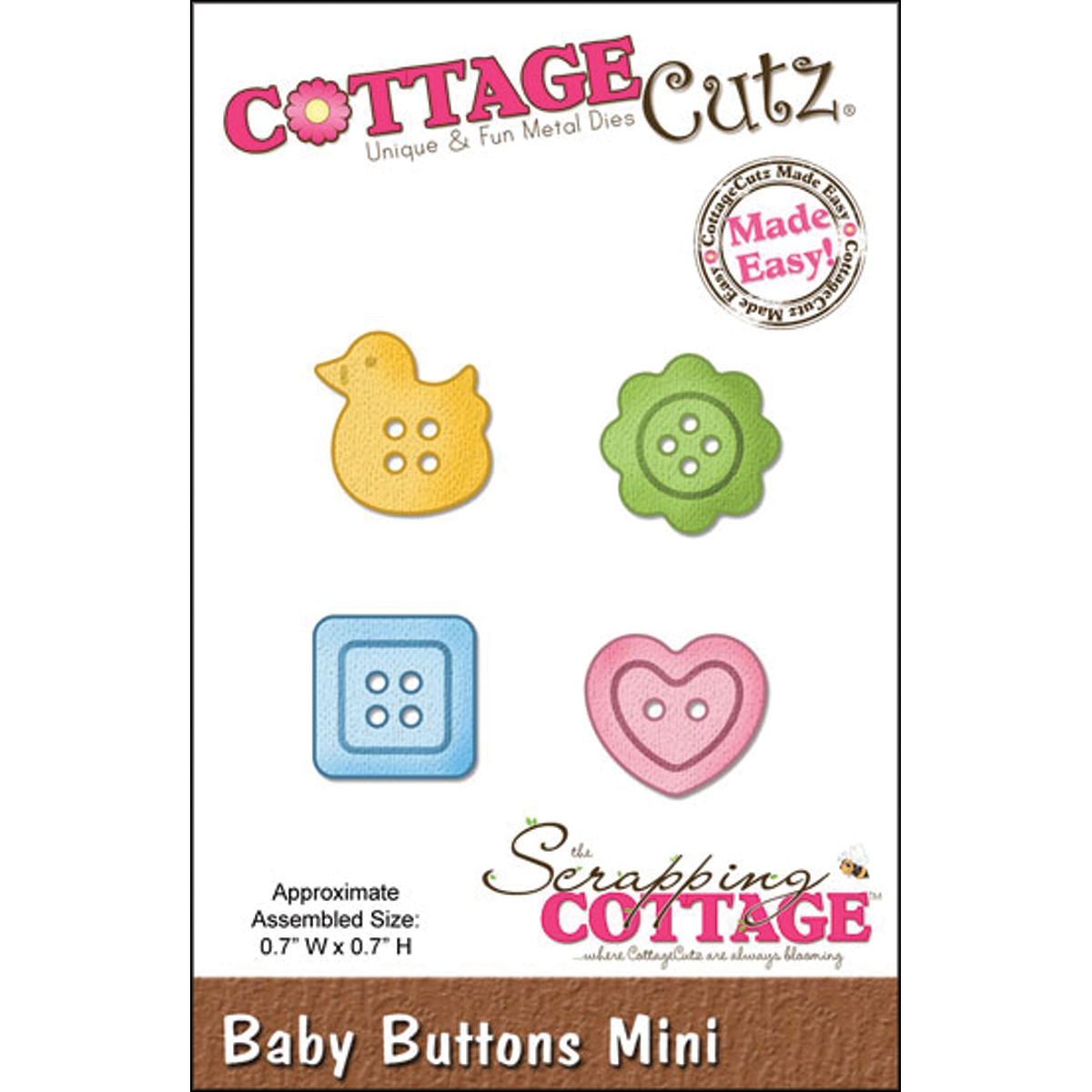 CottageCutz Made Easy Mini Die Baby Buttons