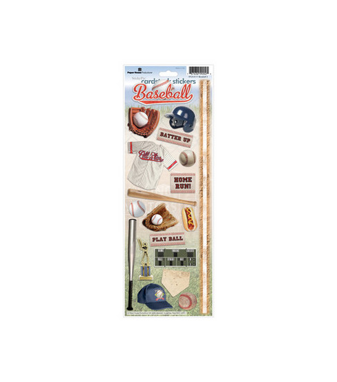 Paper House Cardstock Stickers-Baseball