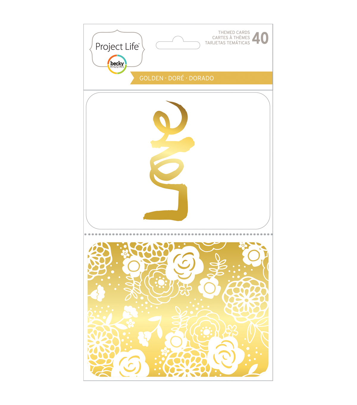 Project Life Specialty Themed Cards 40/Pkg-Golden