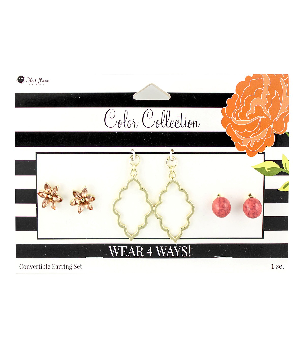 Blue Moon Beads Color Collection Earring Mix & Match Pack-Salmon Gold