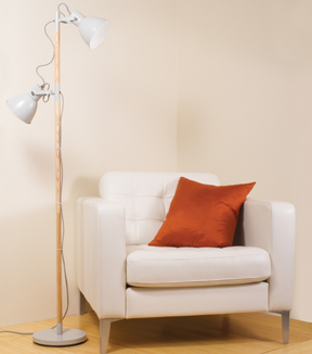 OttLite Avery LED Floor Lamp-Grey