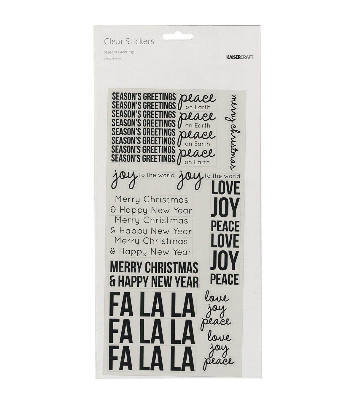 Kaisercraft Clear Stickers-Season\u0027s Greeting