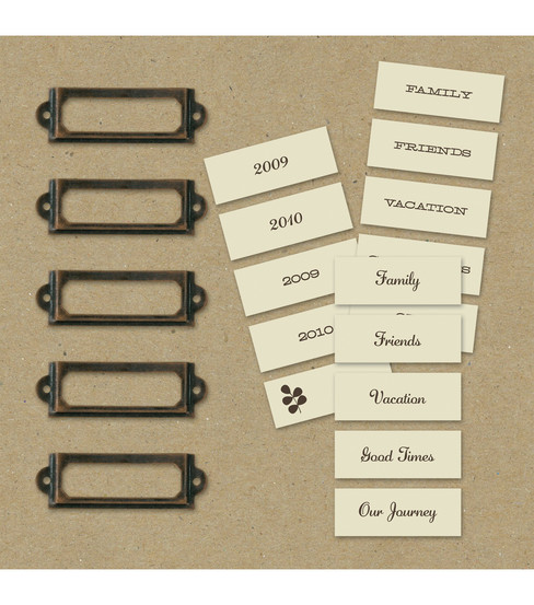 K & Company Label Holders & Labels-Eco-Modern