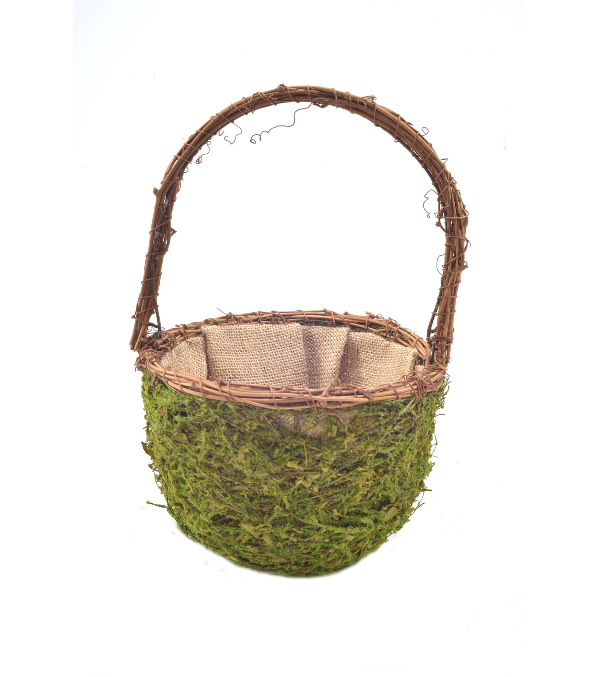 Bloom Room Wire Container With Faux Moss