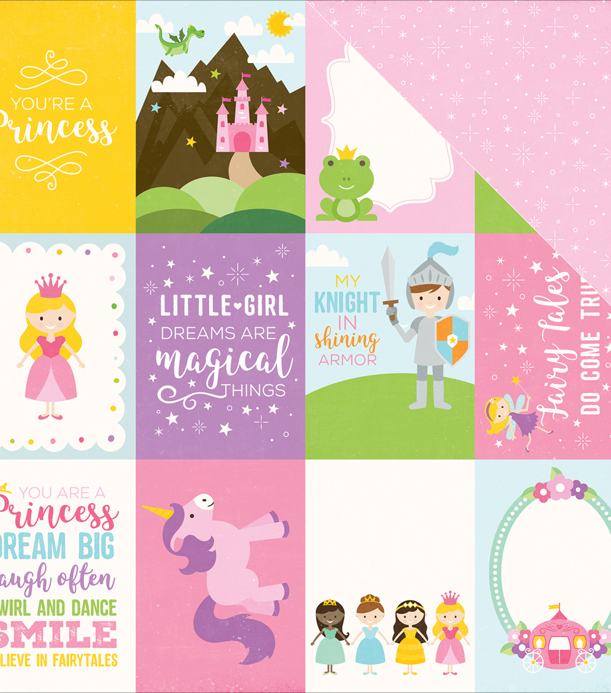 "Perfect Princess Double-Sided Cardstock 3""X4"" Journaling Cards"