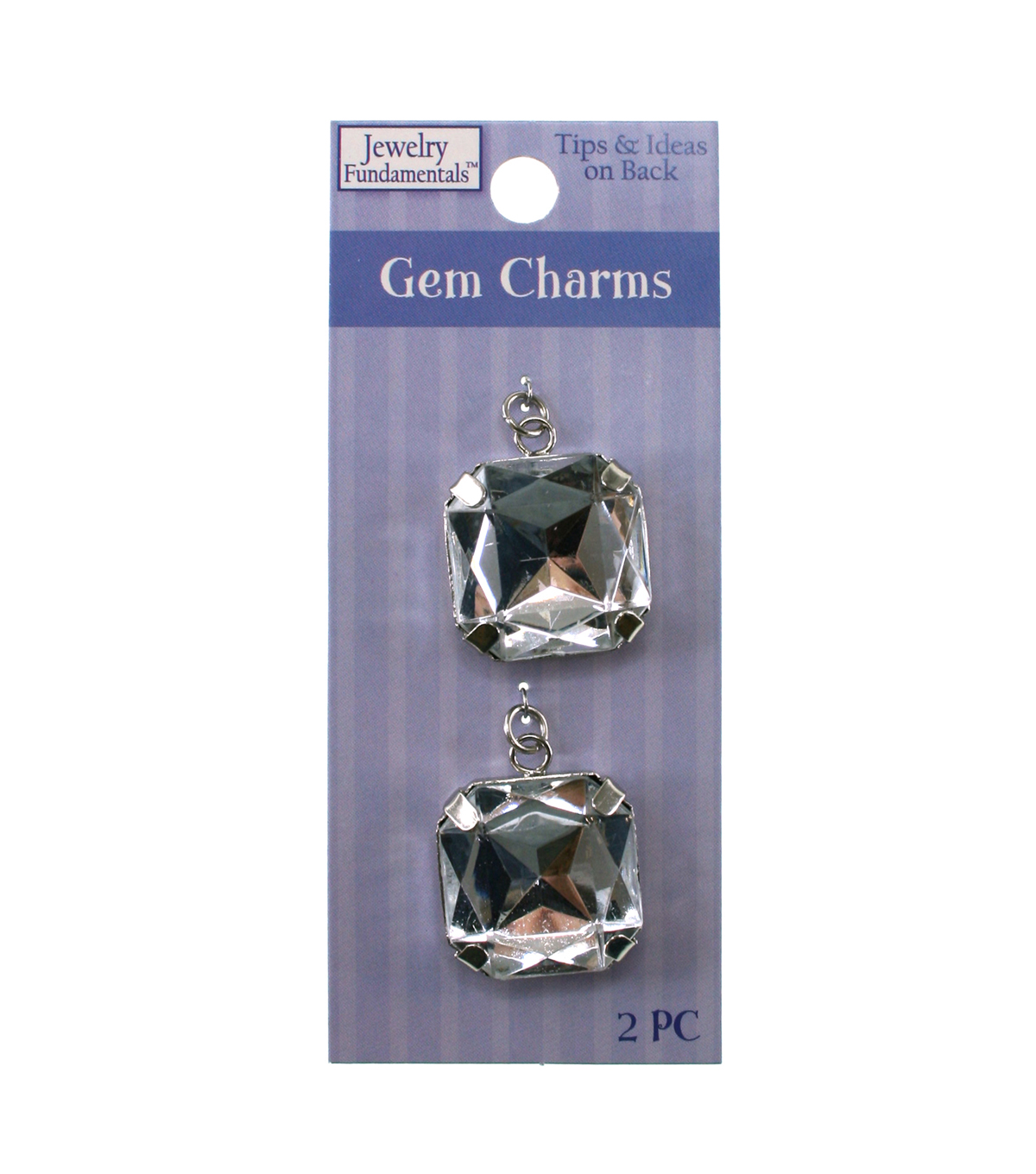 Jewelry Fundamentals Gem Charms - Clear