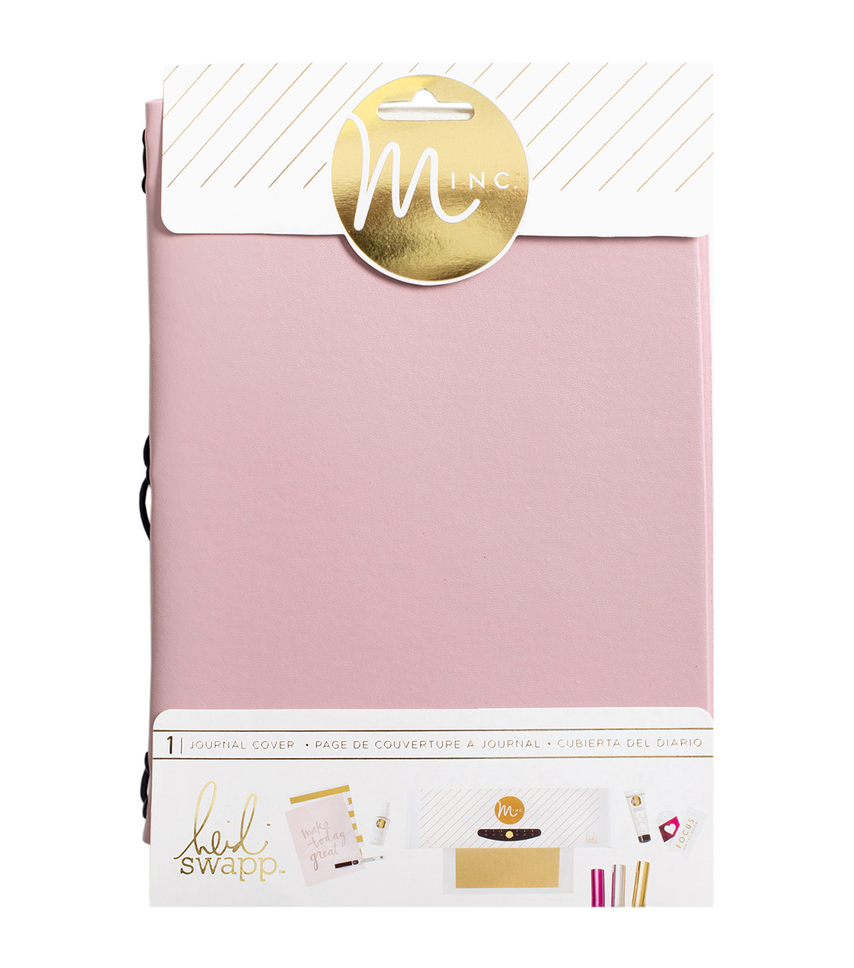 Heidi Swapp Minc Journal Cover 6\u0022X9\u0022-Blush Vinyl