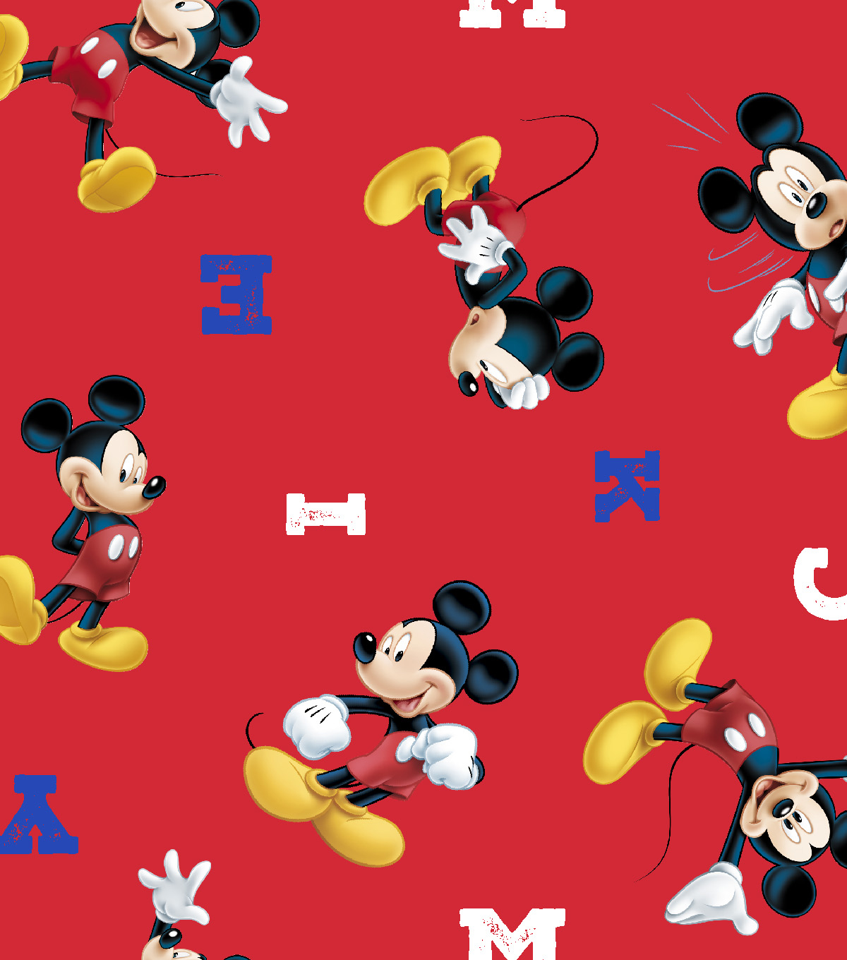 Disney® Mickey Mouse Cotton Fabric 43\u0022-Letter Toss
