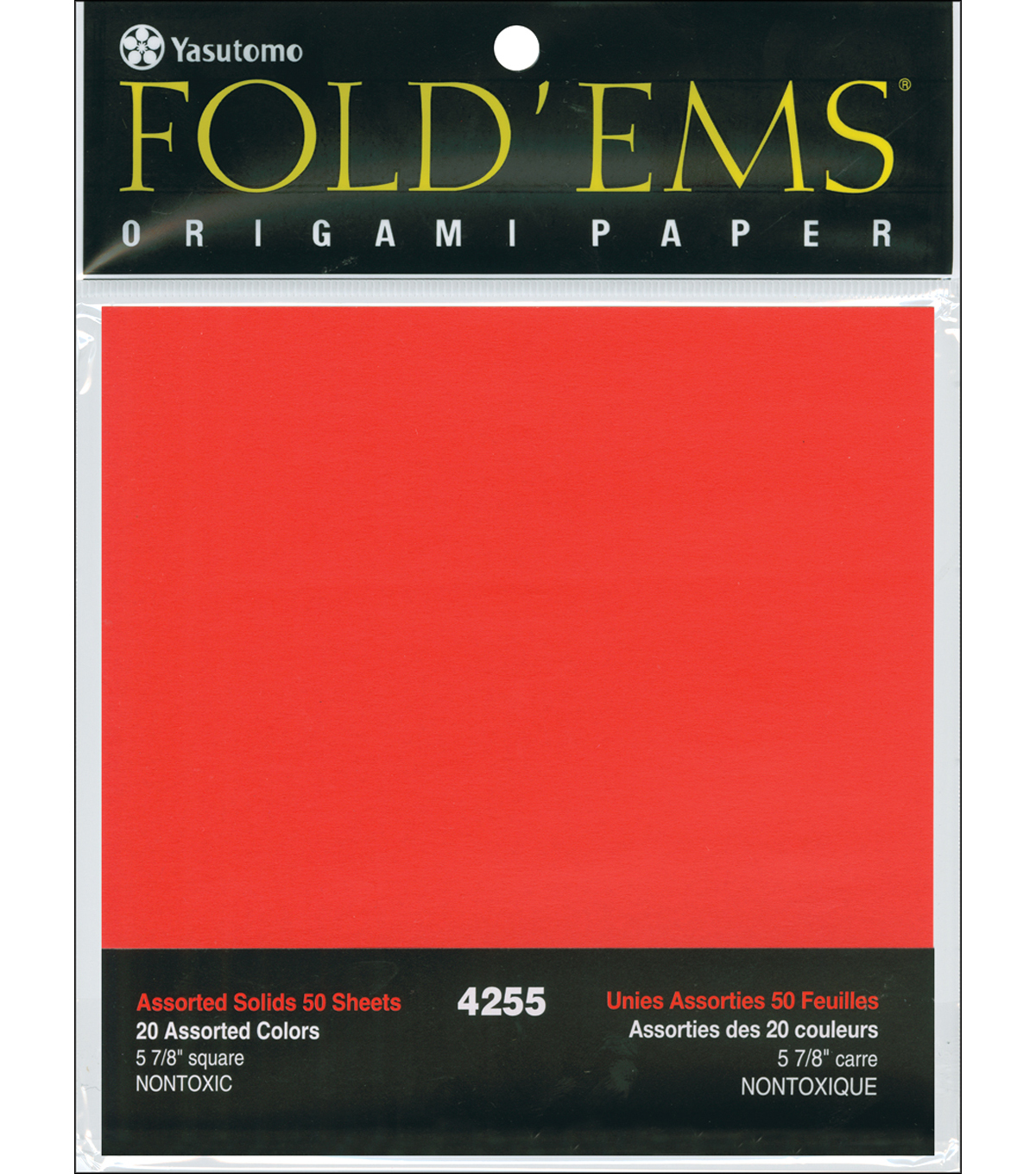 Fold \u0027Ems Origami Paper 5.875\u0022 50/Pkg-20 Assorted Colors