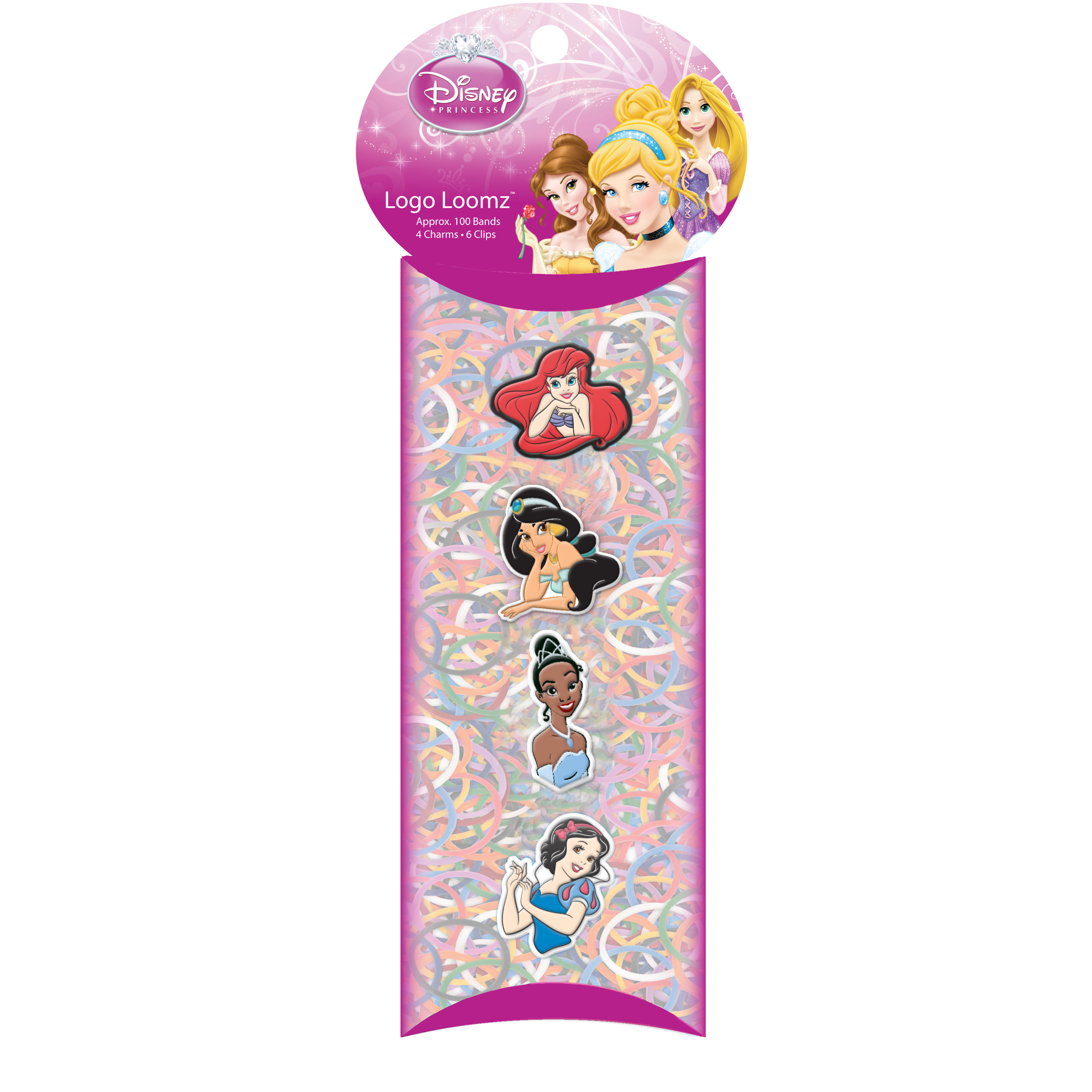 Forever Collectibles Logo Loomz Charm Pack Disney Princesses 2nd Version