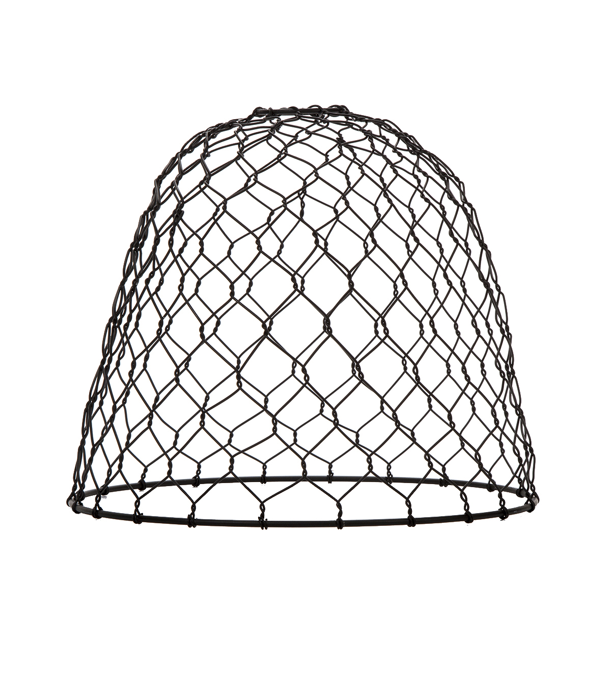 Darice® Metal Chickenwire Dome Lampshade-Black
