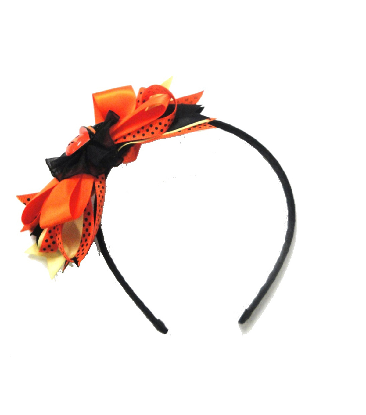 Maker's Halloween Pumpkin Headband with Ribbons
