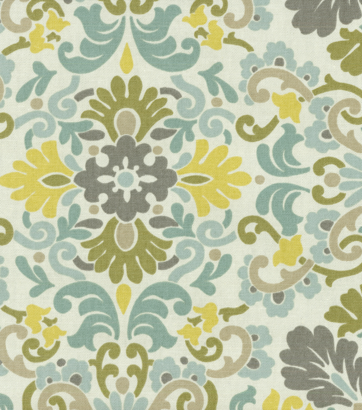 P/K Lifestyles Print Fabric 54\u0022-Folk Damask/Bliss