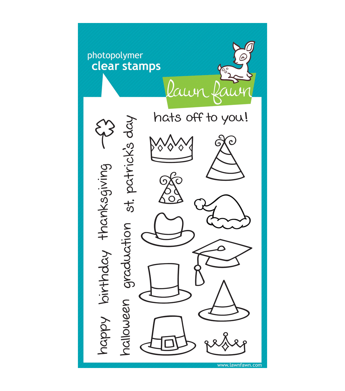 Lawn Fawn Clear Stamps 4\u0022X6\u0022-Hats Off To You