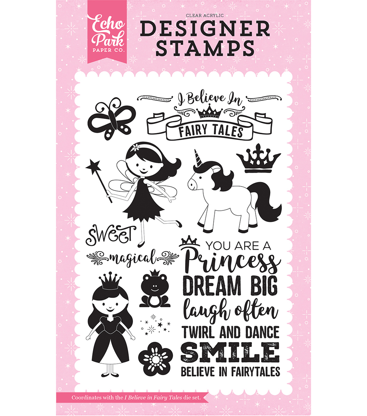 Stamps 4\u0022X6\u0022-Perfect Princess I Believe In Fairy Tale