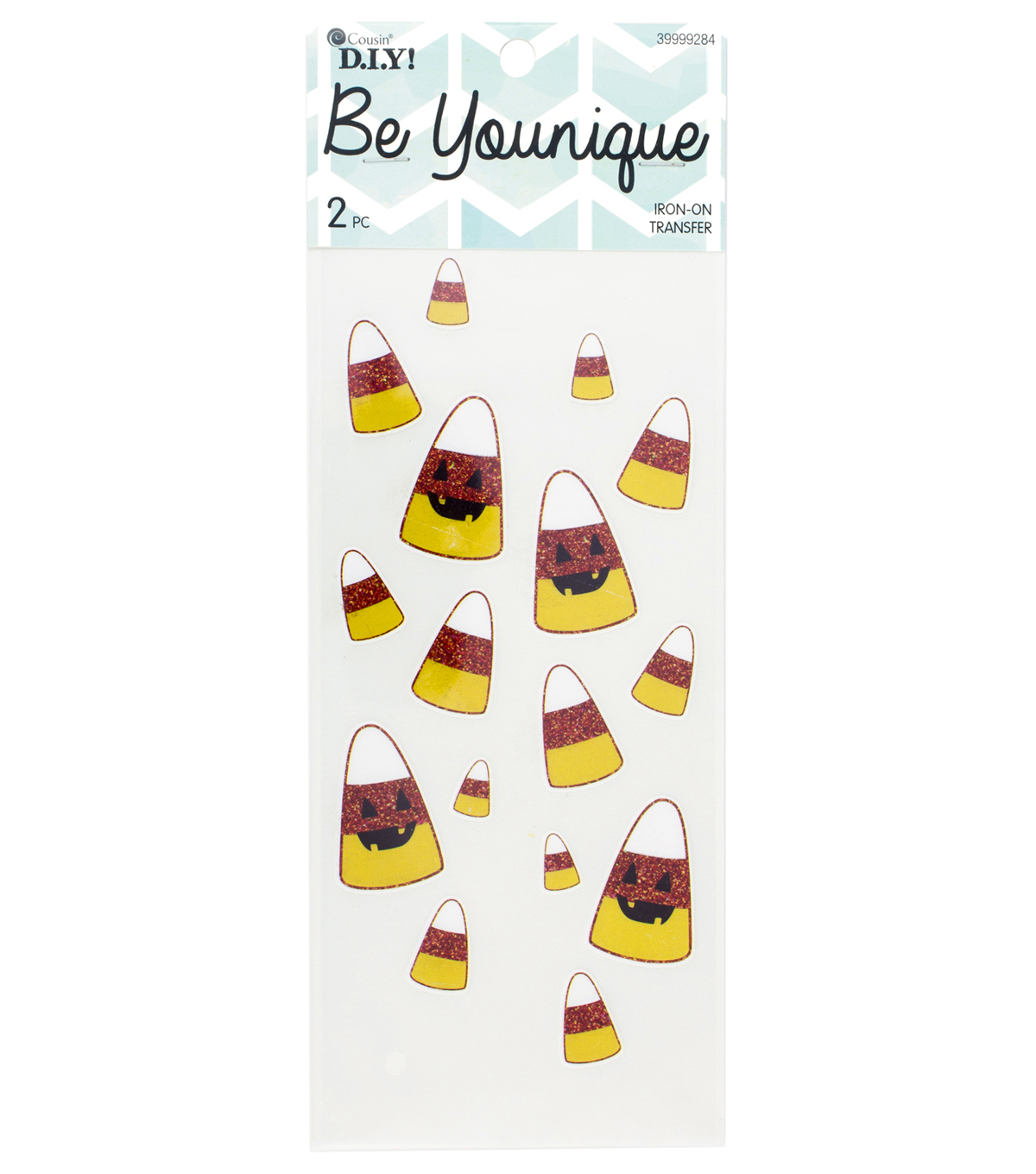 Cousin® DIY Be Younique 2 Pack Sleeve Iron-On Transfers-Candy Corn
