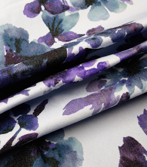 Sportswear 7 oz. Denim Fabric 57\u0027\u0027-Watercolor Florals
