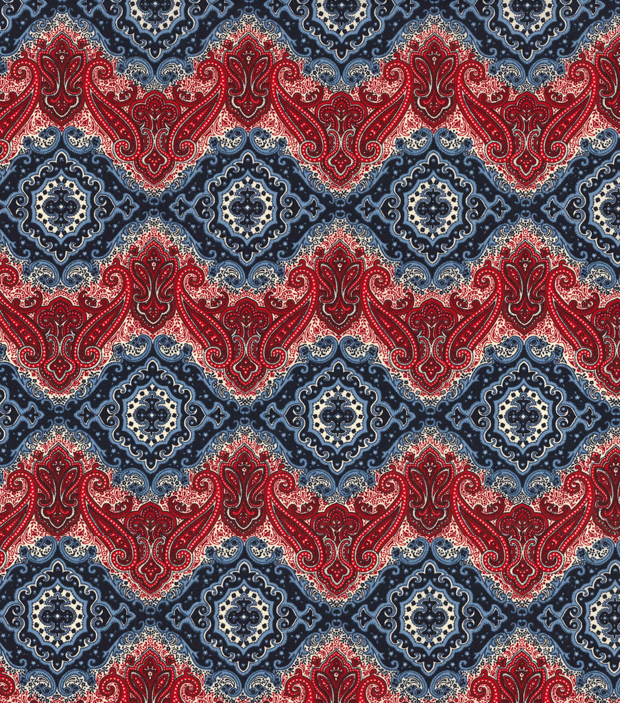 "Patriotic Cotton Fabric 45""-Patriotic Paisley"