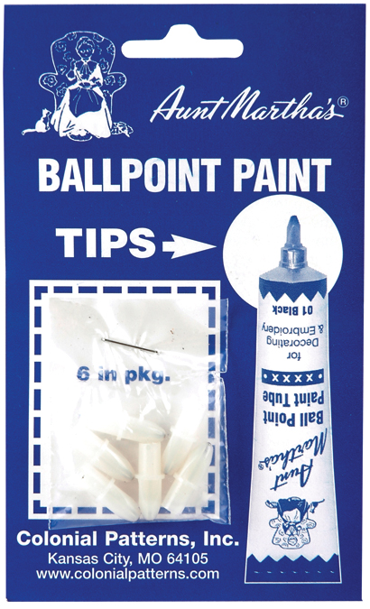 Aunt Martha\u0027s Ballpoint Paint Tubes Replacement Tips-6/Pkg