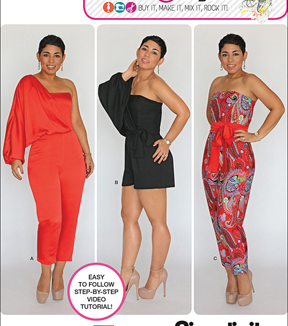 Simplicity Patterns Us1115U5-Simplicity Misses\u0027 Long Or Short Jumpsuit From Mimi G-16-18-20-22-24