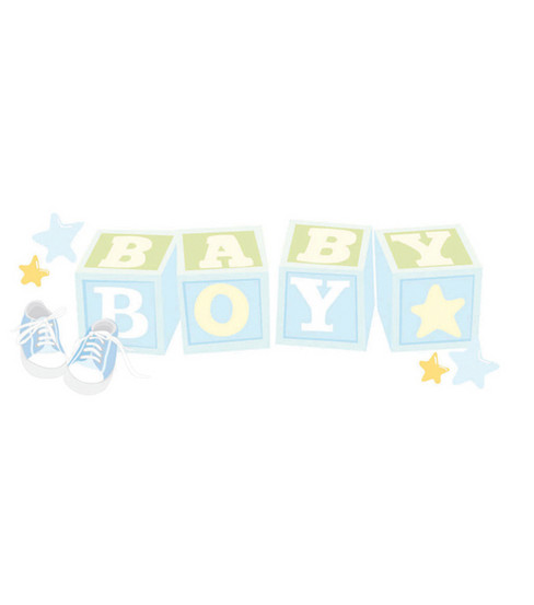 Jolee\u0027s Boutique Title Wave Sticker-Baby Boy