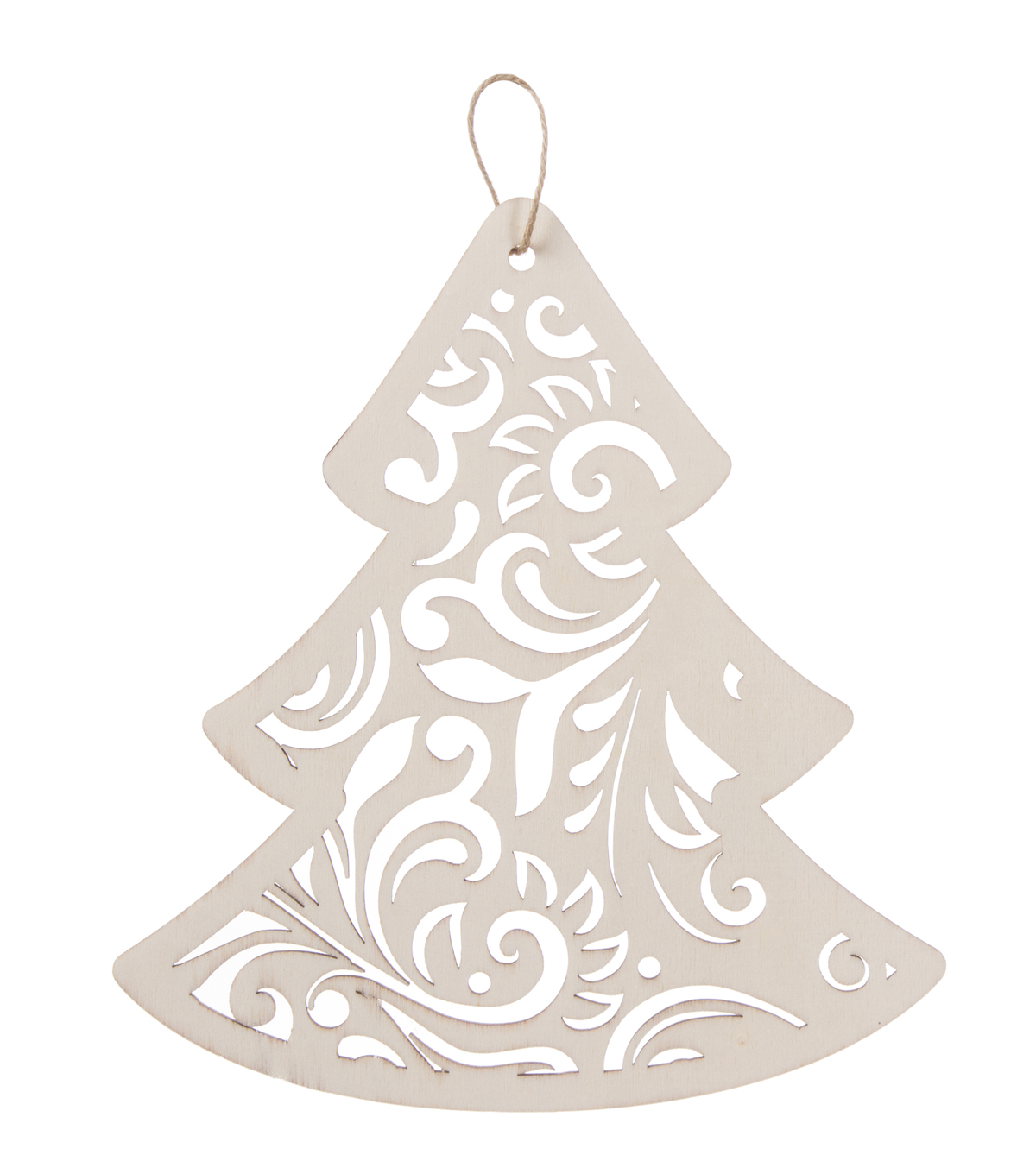 Lasered Wood 8\u0022 Tree Ornament
