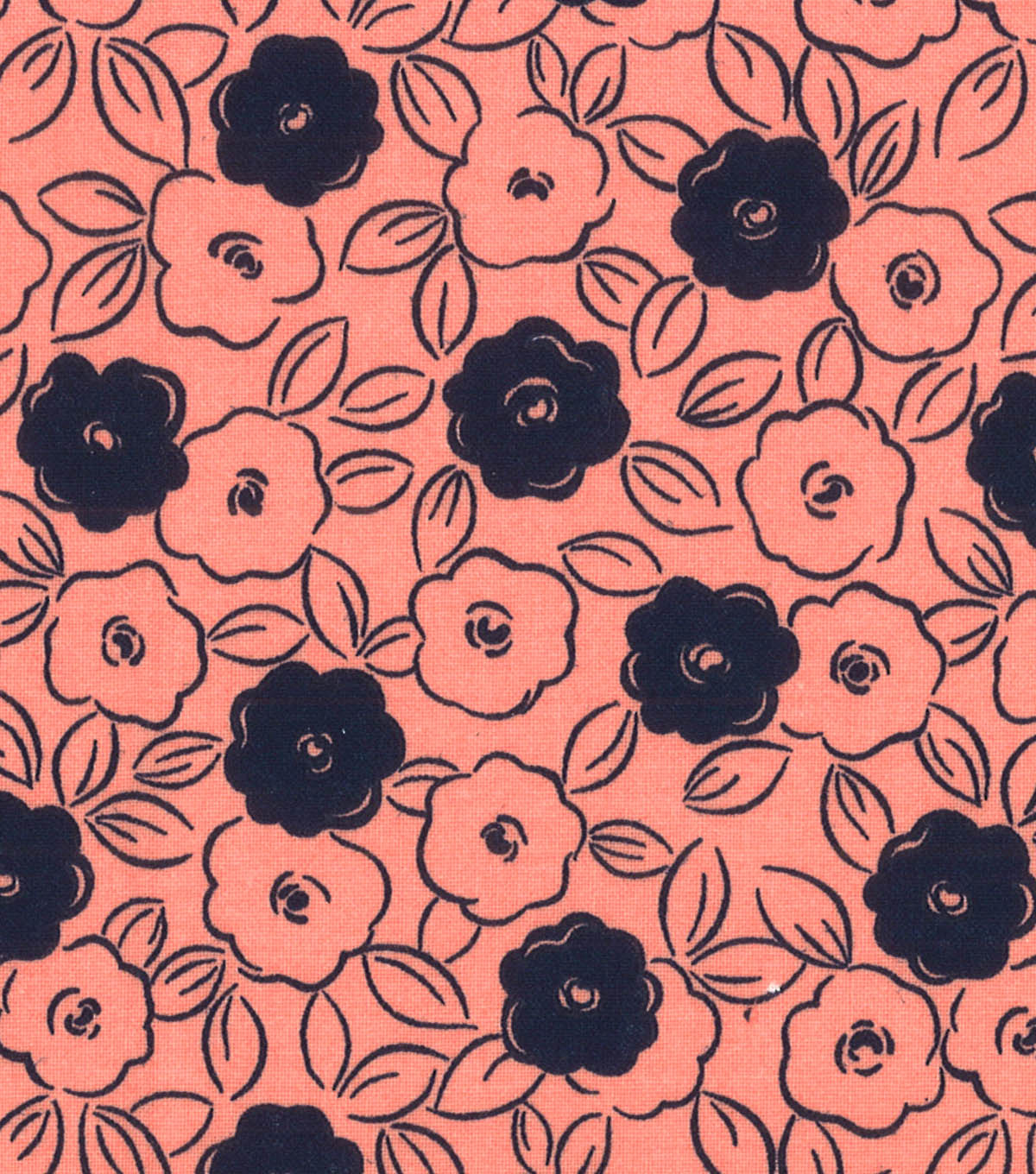 Quilter\u0027s Showcase™ Fabric 44\u0027\u0027-Desert Flower & Navy Floral