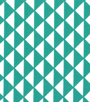 Quilter\u0027s Showcase™ Cotton Fabric-Triangles Teal/White