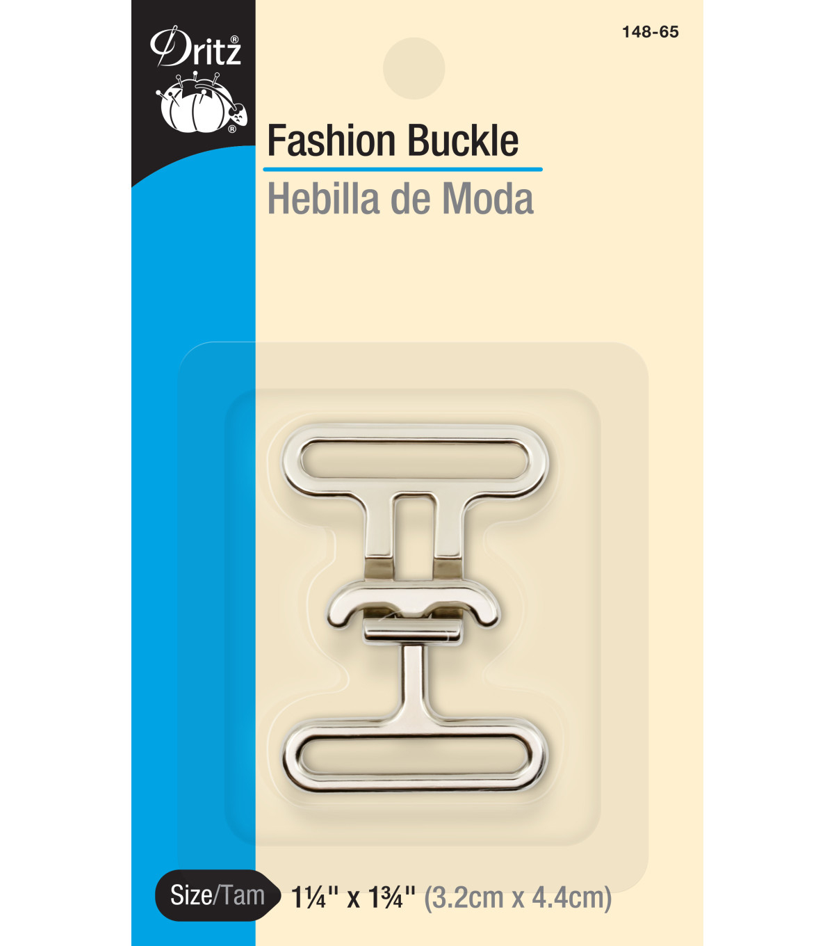 Dritz 1.75\u0022x1.75\u0022 Fashion Toggle Buckle Nickel