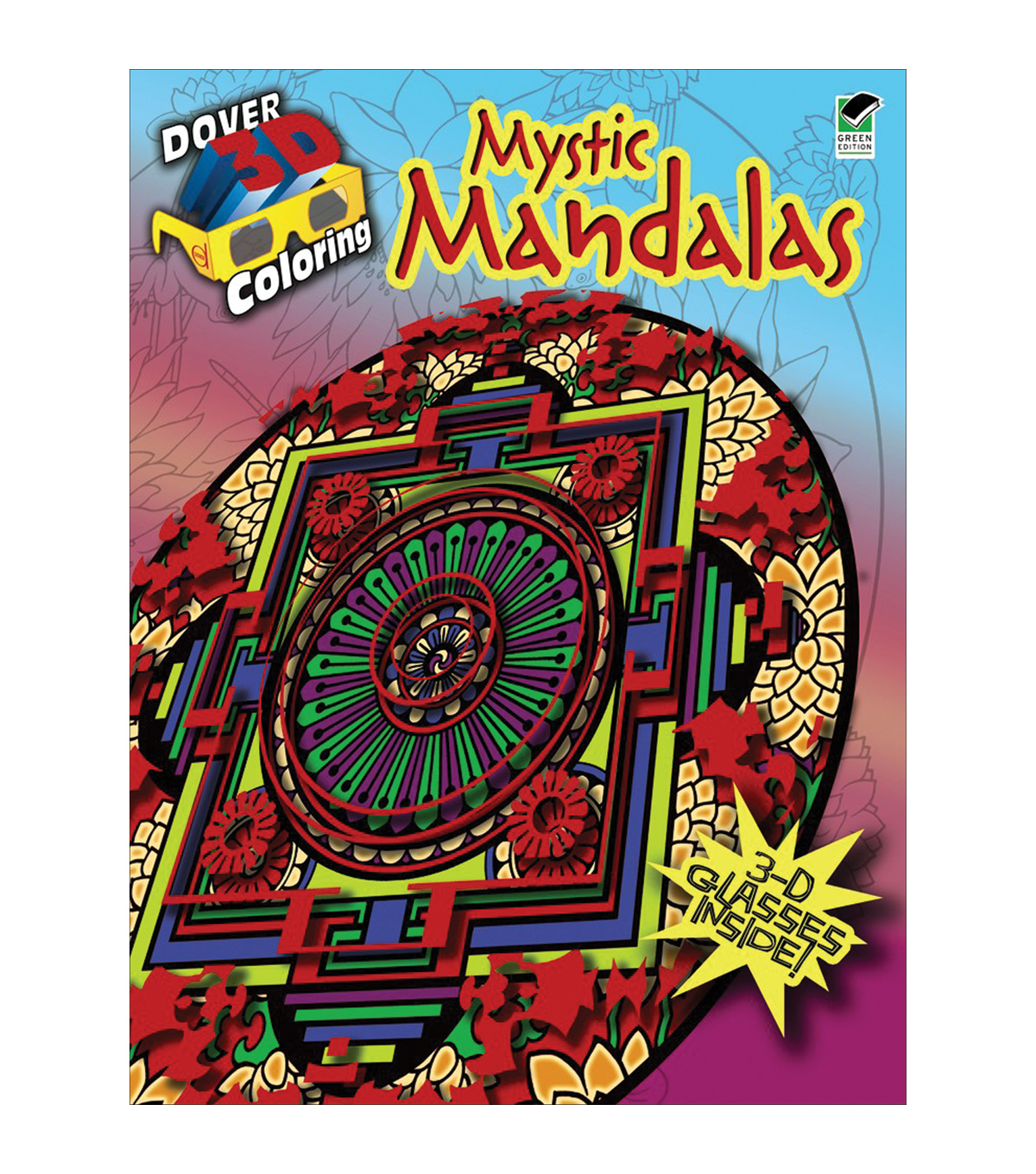 adult coloring book dover publications mystic mandalas 3d - Dover Coloring Books For Adults