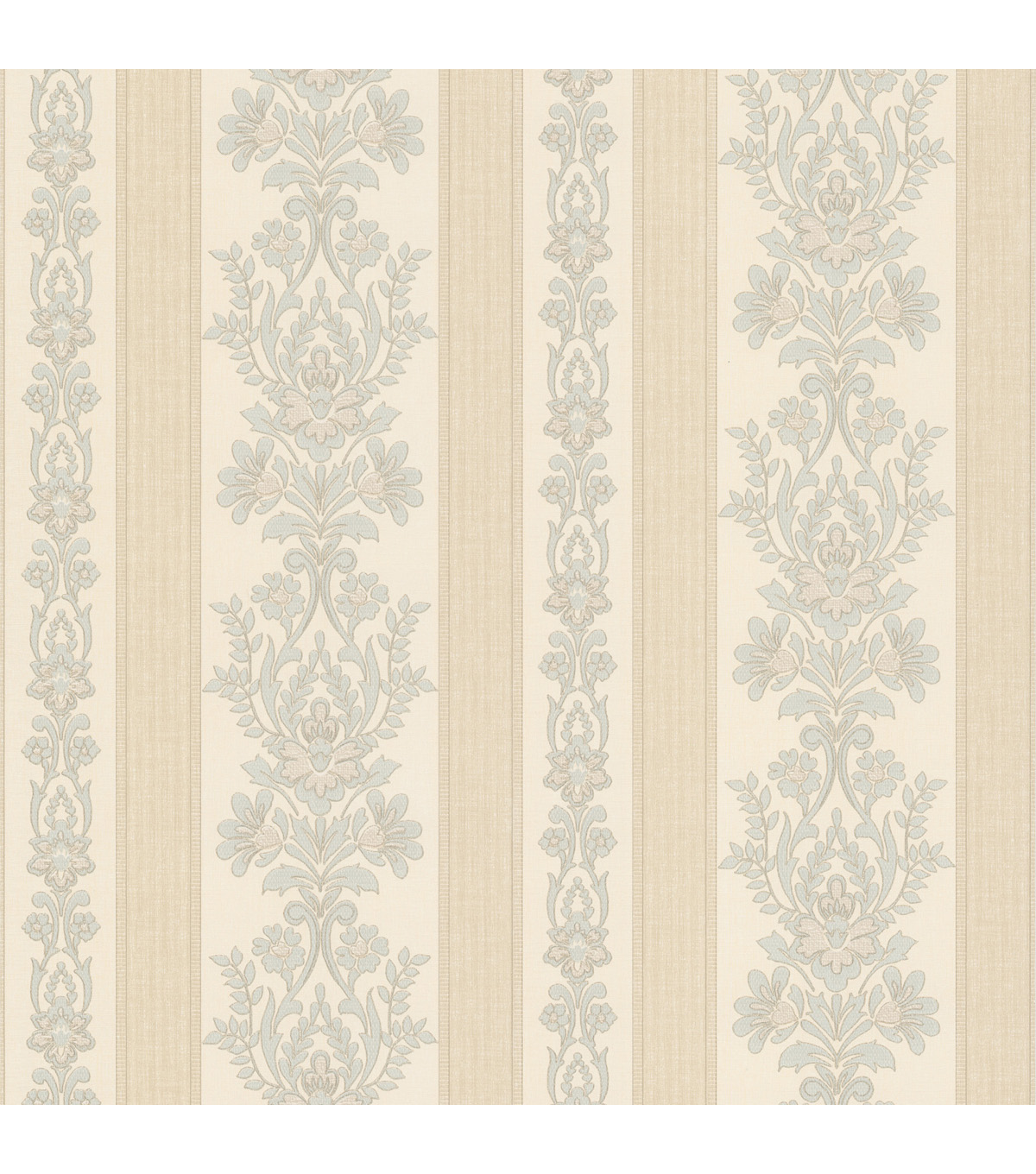 Kensington Light Blue Damask Stripe Wallpaper Sample
