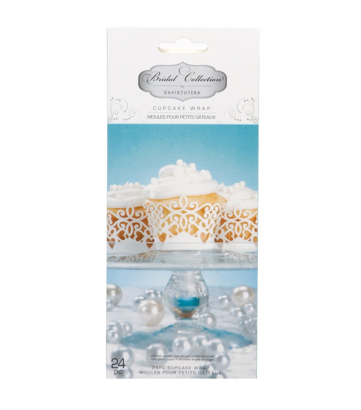 David Tutera Bridal Laser Cut Cupcake Wraps Pearl
