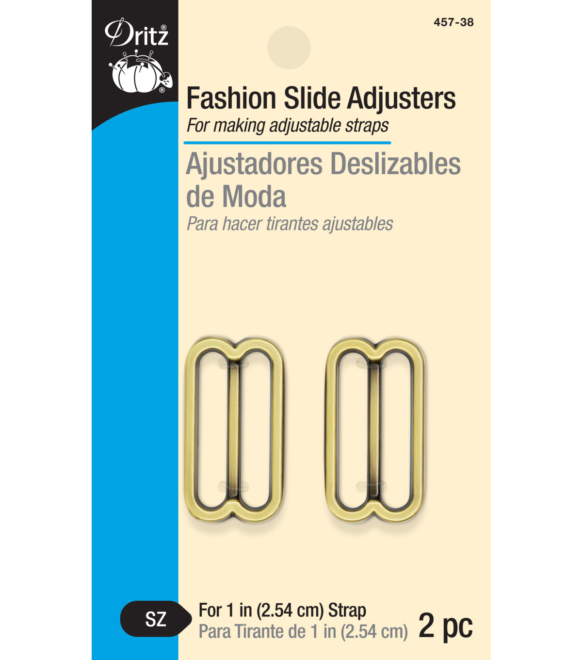 Dritz-Fashion Slide Ajdusters Brass
