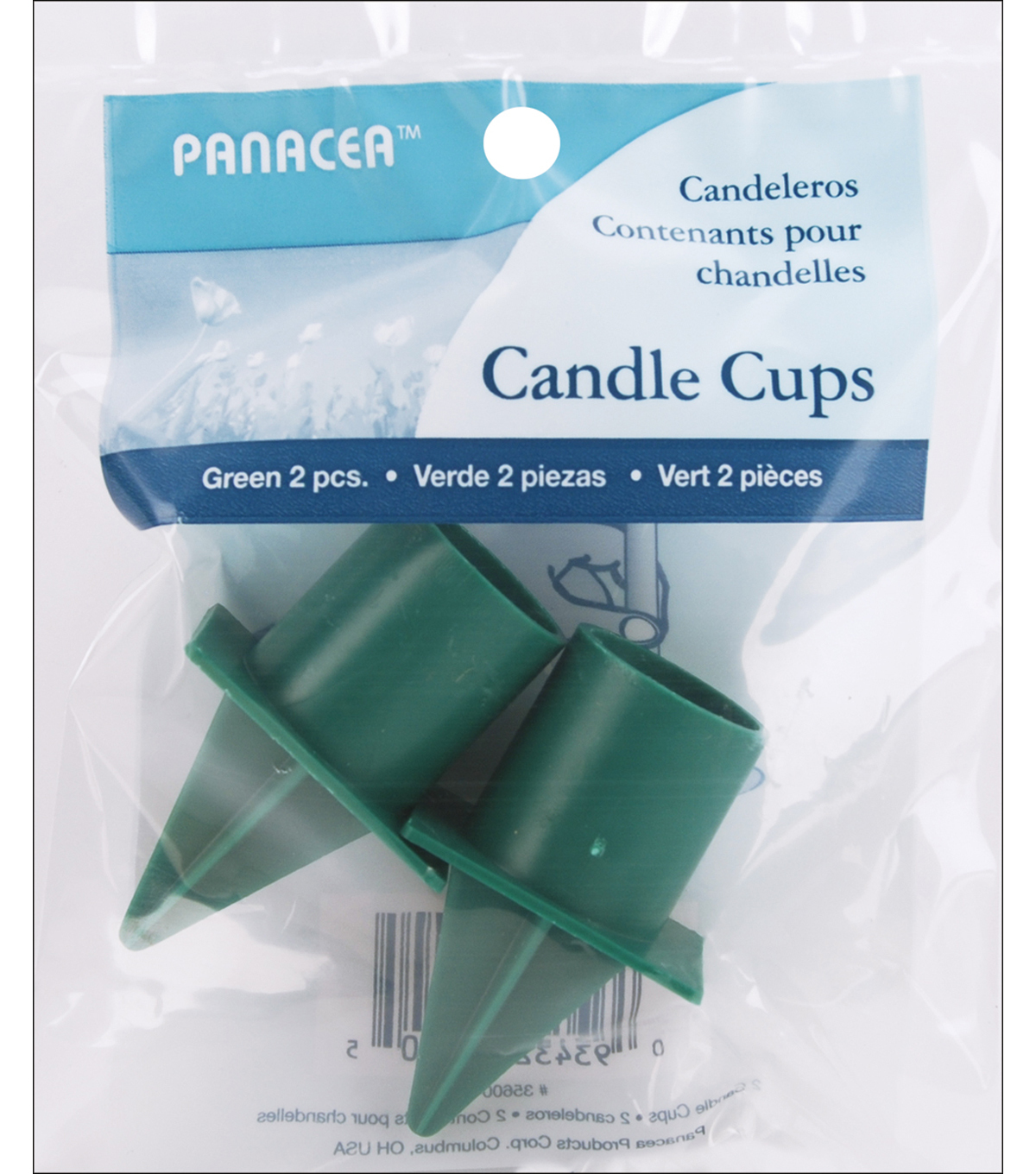 Panacea 1\u0022 Spiked Candle Cup-2PK/Green