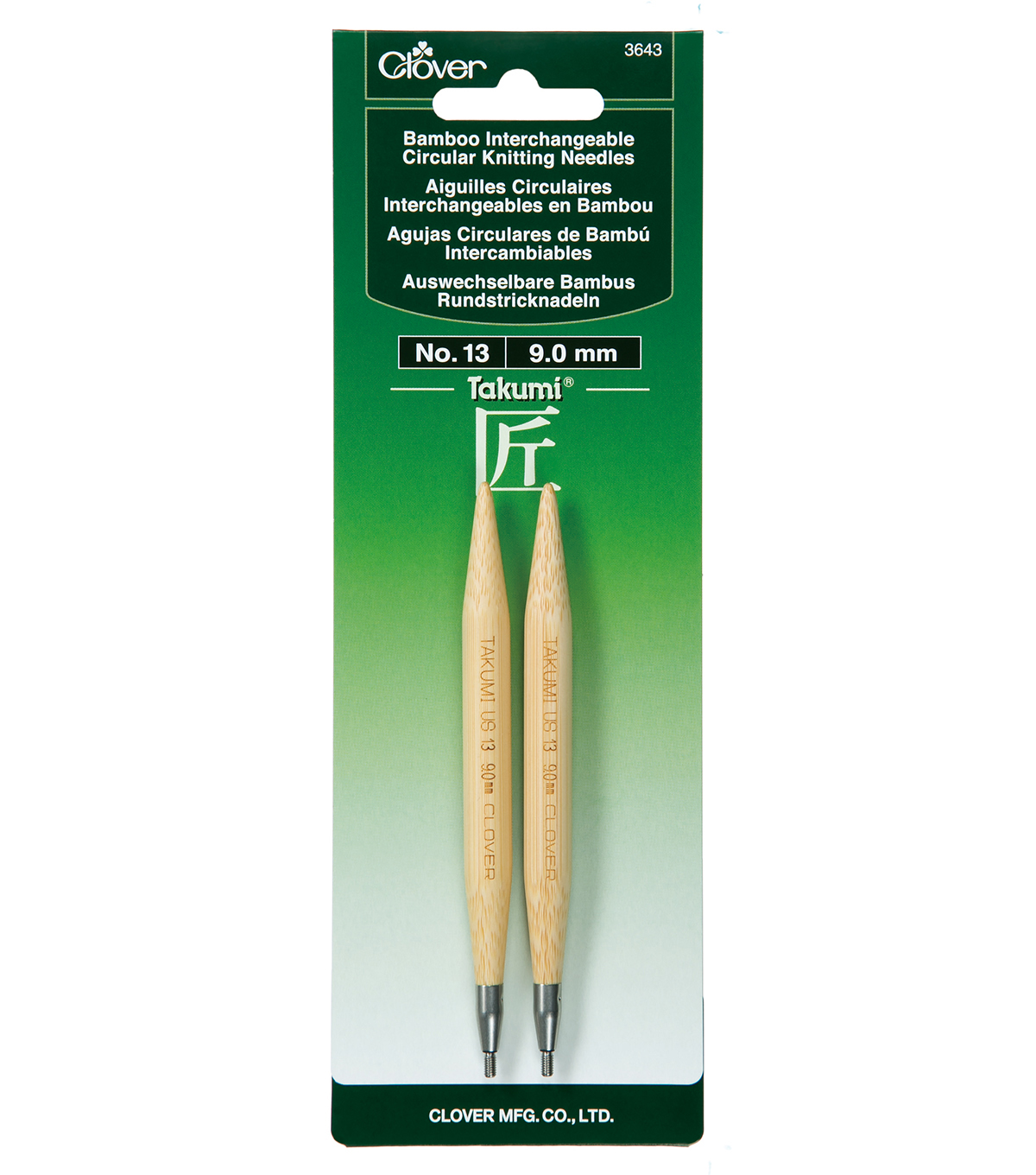 Clover Takumi Interchangeable Circular Knitting Needles Size 13/9mm